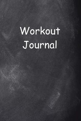 Workout Journal Chalkboard Design