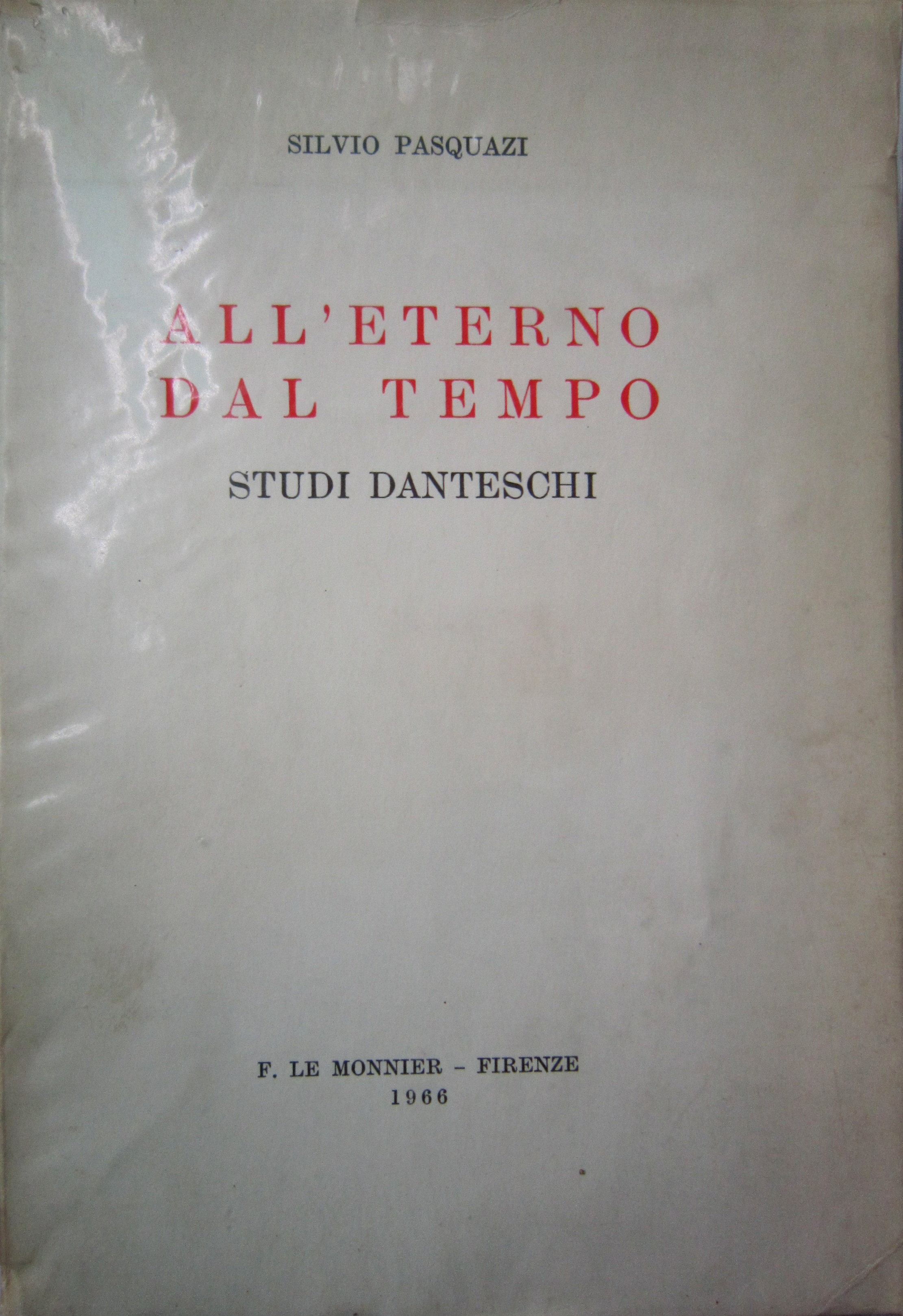 All'eterno dal tempo