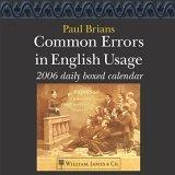 Common Errors in English Usage 2006 Daily Boxed Calendar