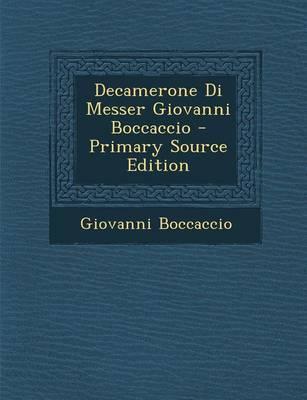Decamerone Di Messer...