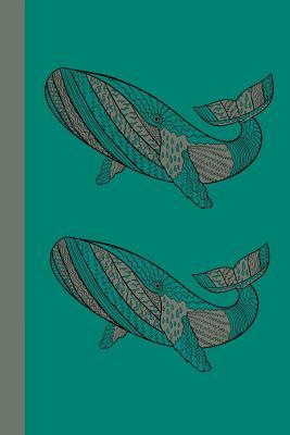Whales Green Dot Journal