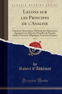 Lecons sur les Principes de l'Analyse, Vol. 2