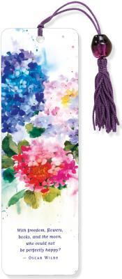 Hydrangeas Beaded Bookmark