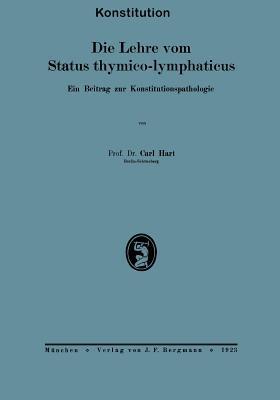 Die Lehre Vom Status Thymico-Lymphaticus