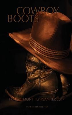 Cowboy Boots 2017 Pocket Monthly Planner