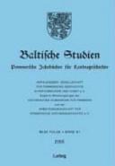 Baltische Studien 2005
