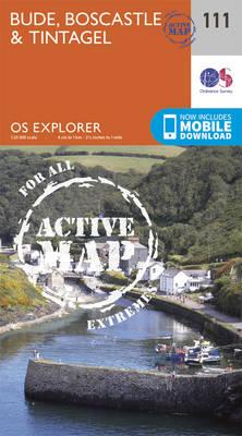 OS Explorer Map Active (111) Bude, Boscastle and Tintagel