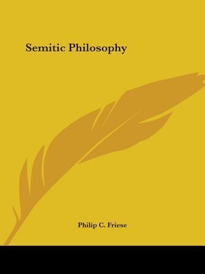 Semitic Philosophy 1890