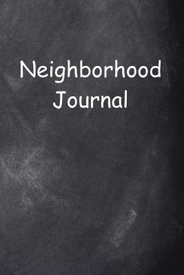 Neighborhood Journal Chalkboard Design