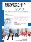 Rapporto sullo stato sociale 2013. Crisi, istituzioni, beni comuni e welfare state