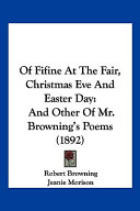 Of Fifine at the Fair, Christmas Eve and Easter Day