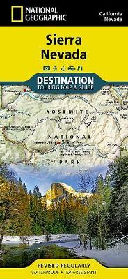 National Geographic Sierra Nevada Map