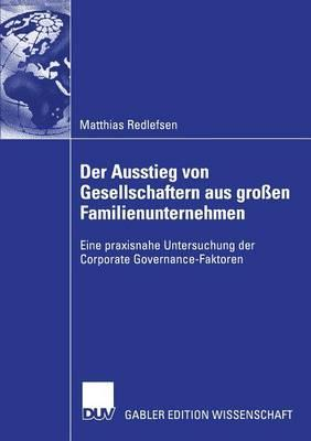 Der Ausstieg Von Gesellschaftern Aus Großen Familienunternehmen