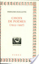 Choix de poèmes, 1955-1997