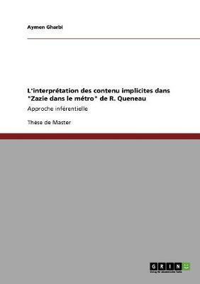 L'interprétation des contenu implicites dans Zazie dans le métro de R. Queneau