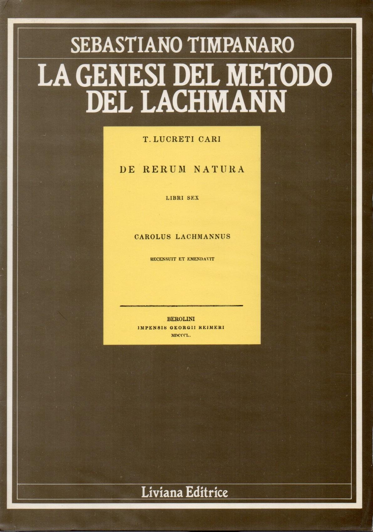 La genesi del metodo del Lachmann