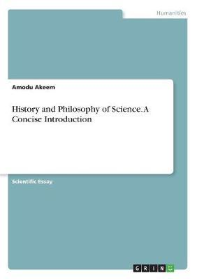 History and Philosophy of Science. A Concise Introduction