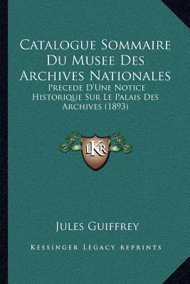 Catalogue Sommaire D...