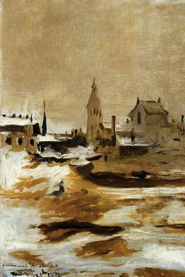 Effect of Snow at Petit Montrouge by Edouard Manet - 1870 Journal