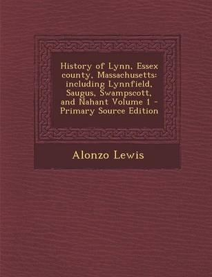 History of Lynn, Essex County, Massachusetts