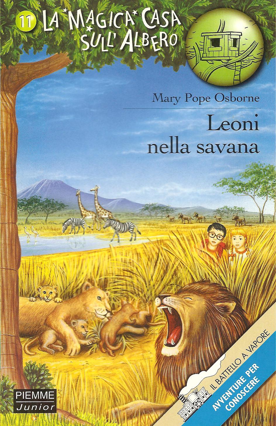 Leoni nella savana