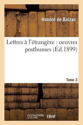 Lettres a l'Étrang�...