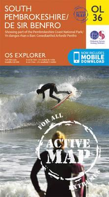OS Explorer ACTIVE OL36 South Pembrokeshire/De Sir Benfro