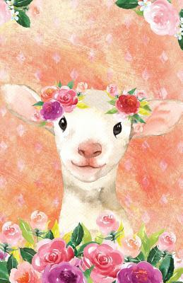 Journal Notebook For Animal Lovers Lamb In Flowers
