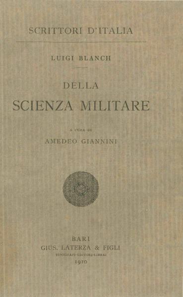 Della scienza militare