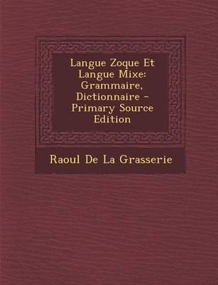 Langue Zoque Et Langue Mixe