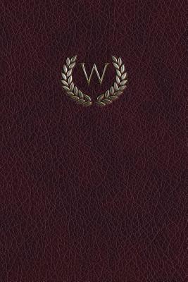 Monogram W Blank Book