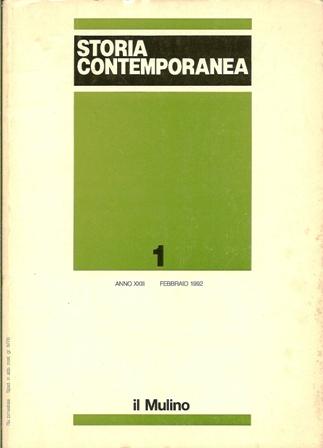 Storia contemporanea n. 1/1992