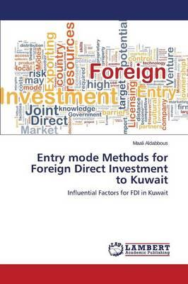 Entry mode Methods for Foreign Direct Investment to Kuwait