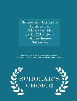 Notice Sur Un Livre ...