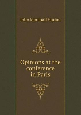 Opinions at the Conference in Paris
