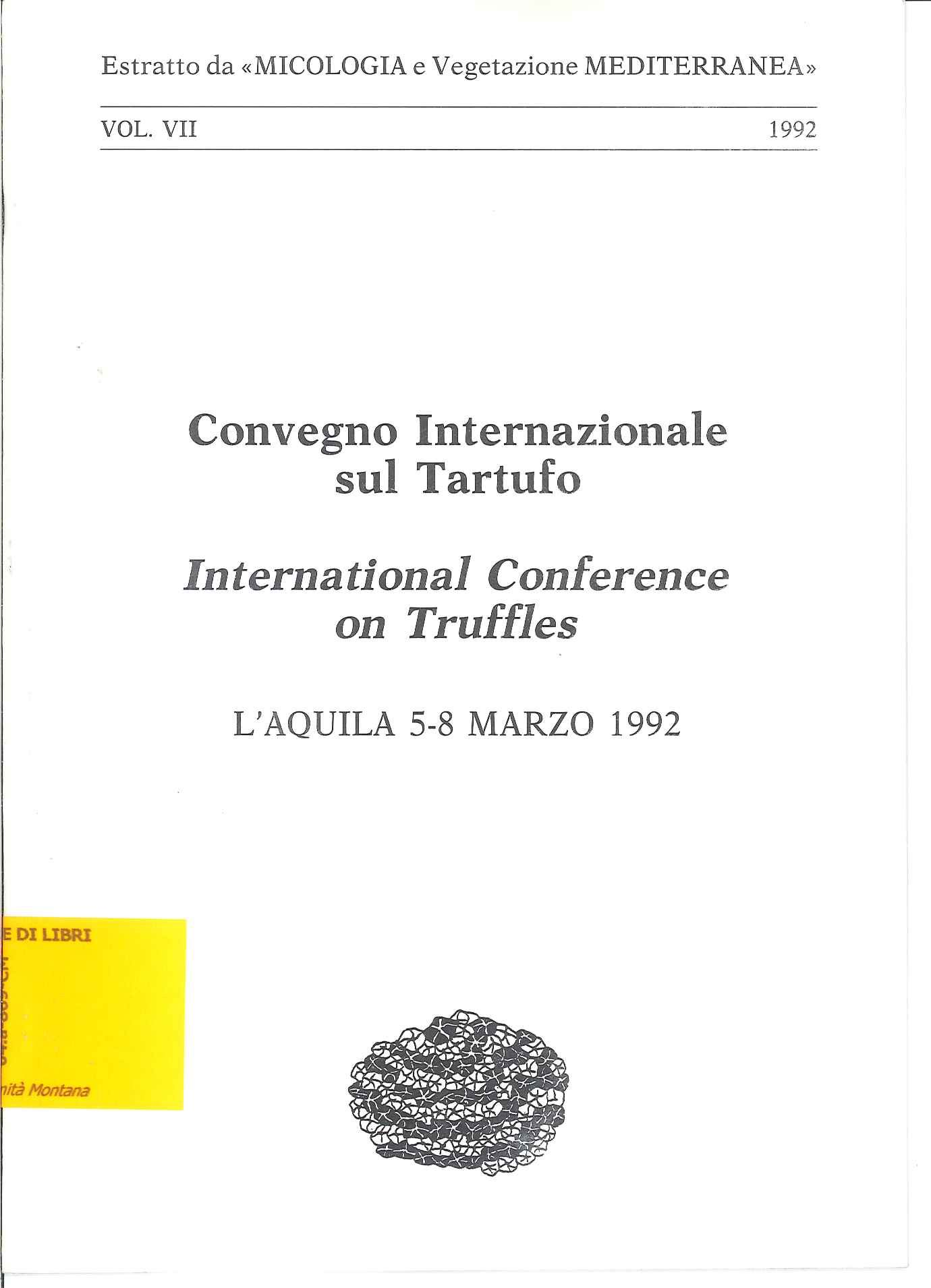 Atti del convegno internazionale sul tartufo, L'Aquila 5-8 marzo 1992