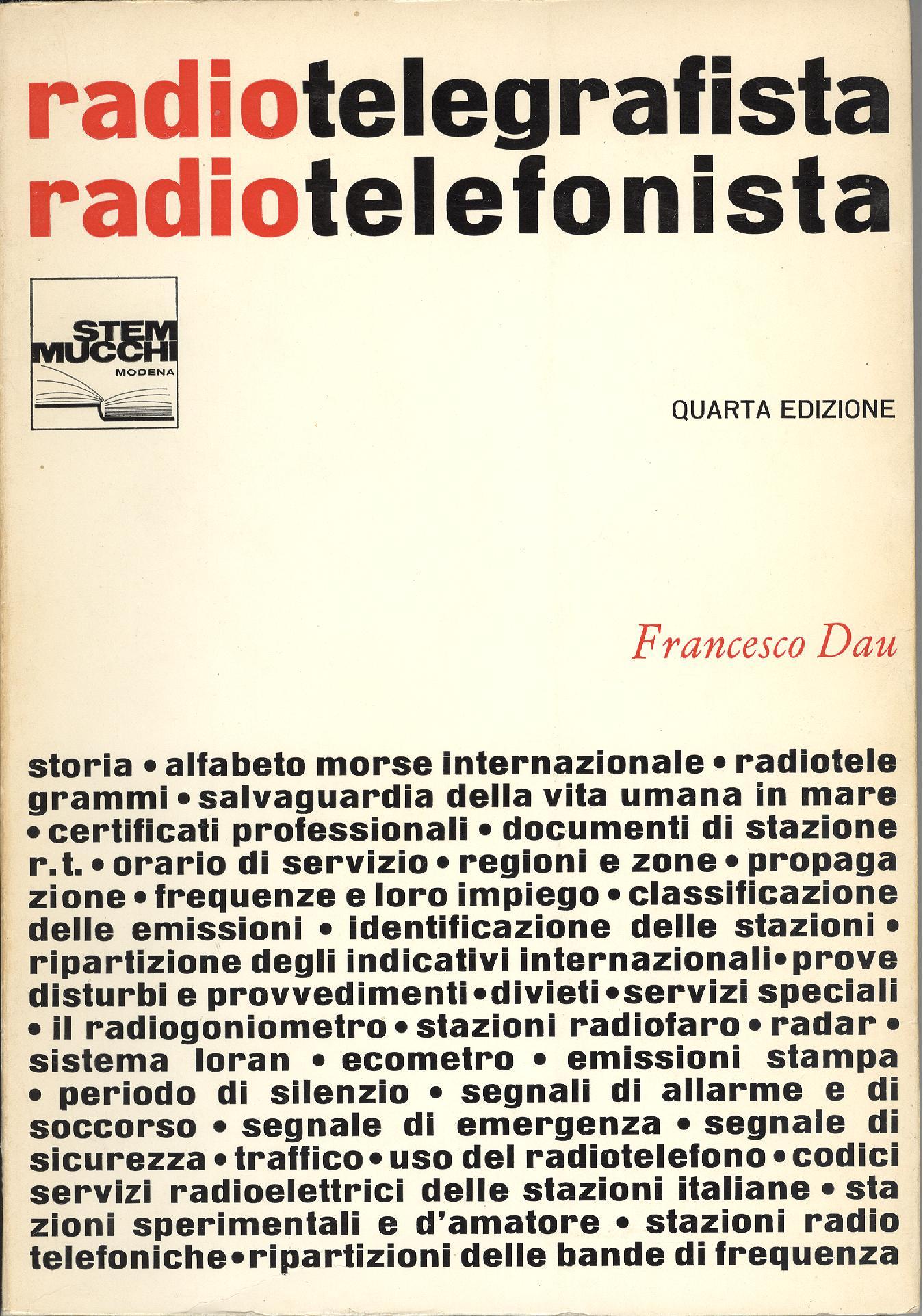 Il Radiotelegrafista e radiotelefonista