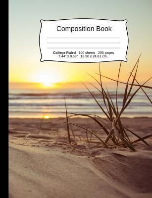 Beach Composition Notebook, College Ruled