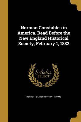 NORMAN CONSTABLES IN AMER READ