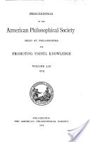 Proceedings, American Philosophical Society (vol. 54, 1915)