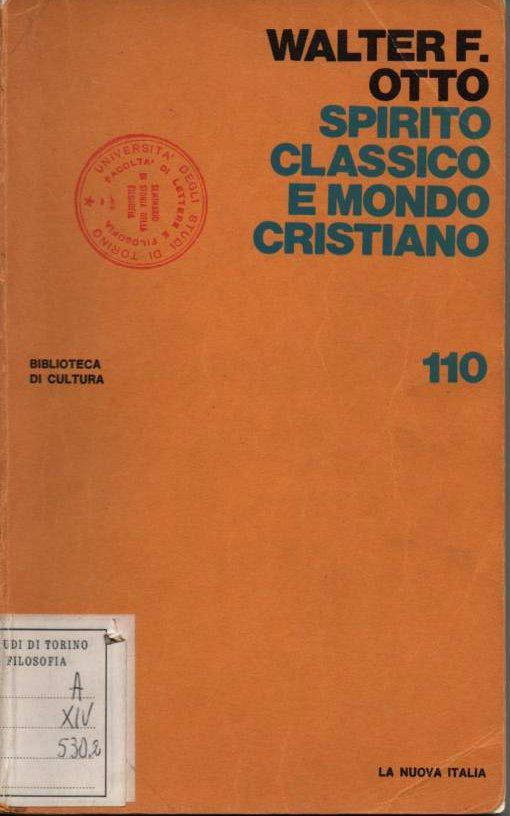 Spirito classico e mondo cristiano