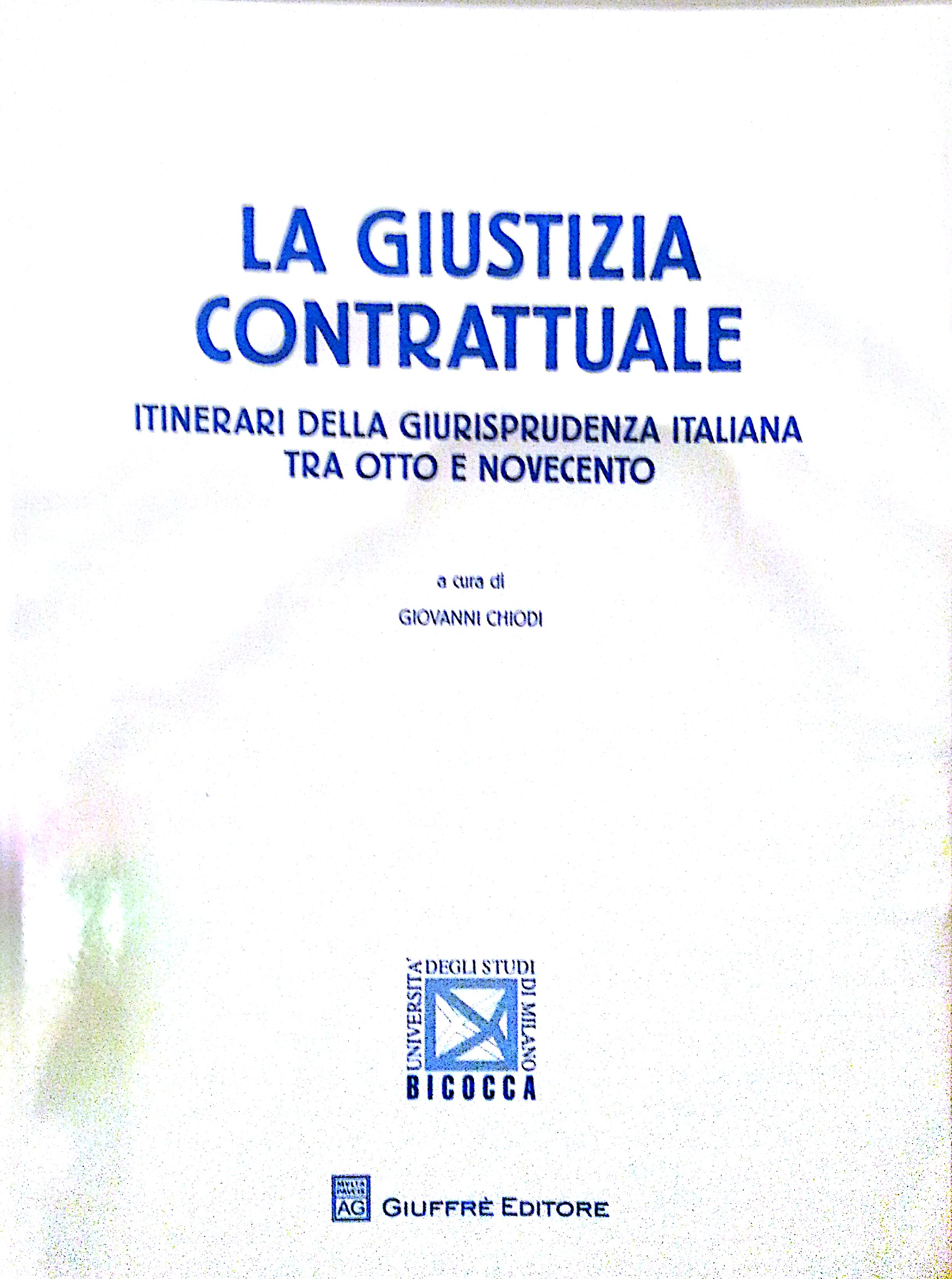 La giustizia contrattuale
