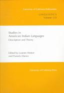 Studies in American Indian languages