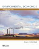 e-Study Guide for: Environmental Economics by Charles D. Kolstad, ISBN 9780199732647