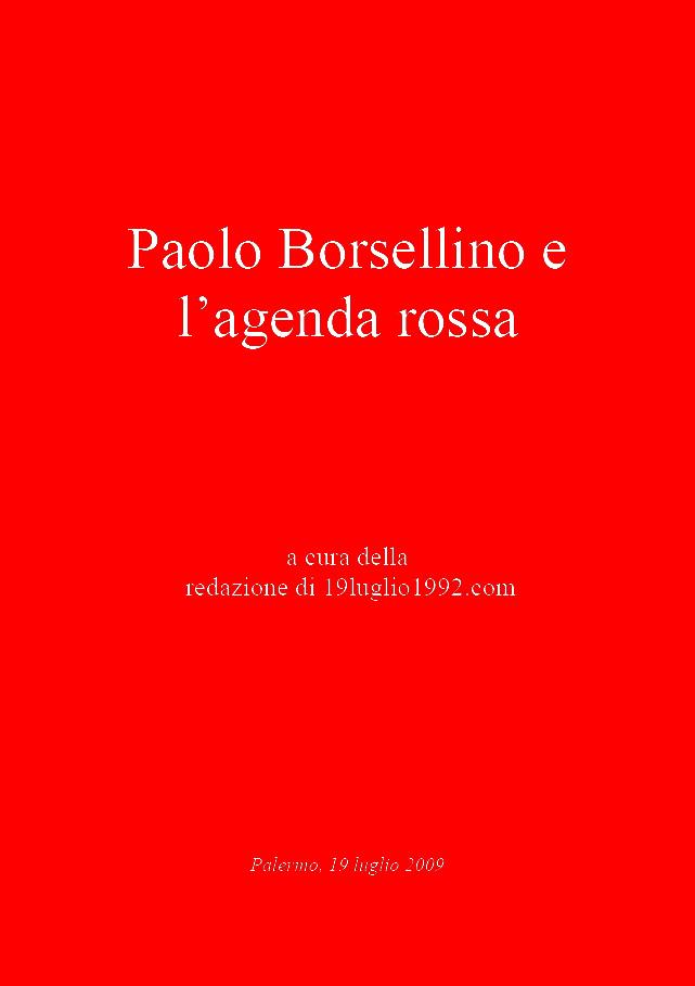 Paolo Borsellino e l'agenda rossa