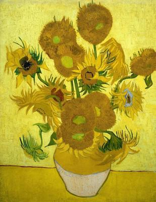 Sunflowers, Vincent van Gogh. Blank journal