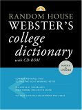 Random House Webster's College Dictionary with CD-ROM