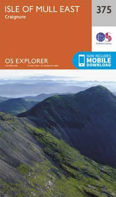 OS Explorer Map (375) Isle of Mull East