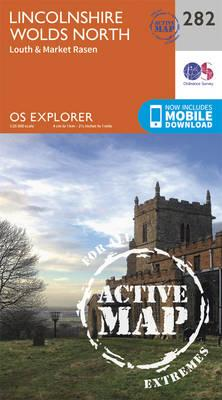 OS Explorer Map Active (282) Lincolnshire Wolds North