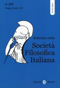 Bollettino della società filosofica italiana